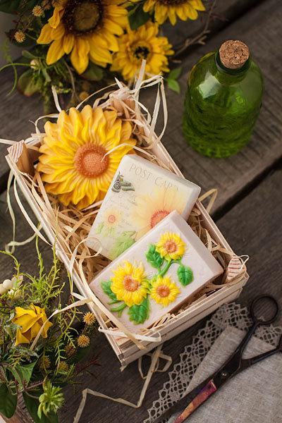 Мыло Желтый сад. Водорастворимая бумага