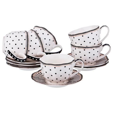 Чайный набор из фарфора на 6 персон 275-954