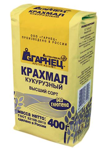 Garnec Крахмал кукурузный без глютена 400 гр