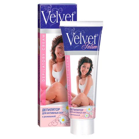 Velvet Крем для депиляции для интимных зон с ромашкой