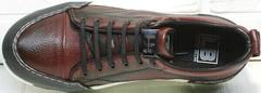 Мужские осенние кеды кроссовки городской стиль Luciano Bellini C6401 MC Bordo.