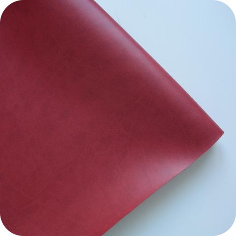 Кожзам переплетный матовый, темно-красный