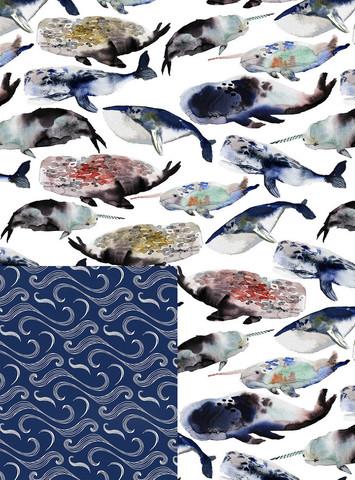 Бумага Whales (двусторонняя)