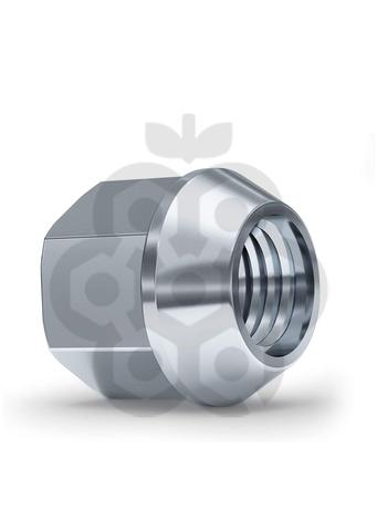 Гайка колёсная М12x1.25 длина=25мм ключ=19мм открытая конус 60º хром