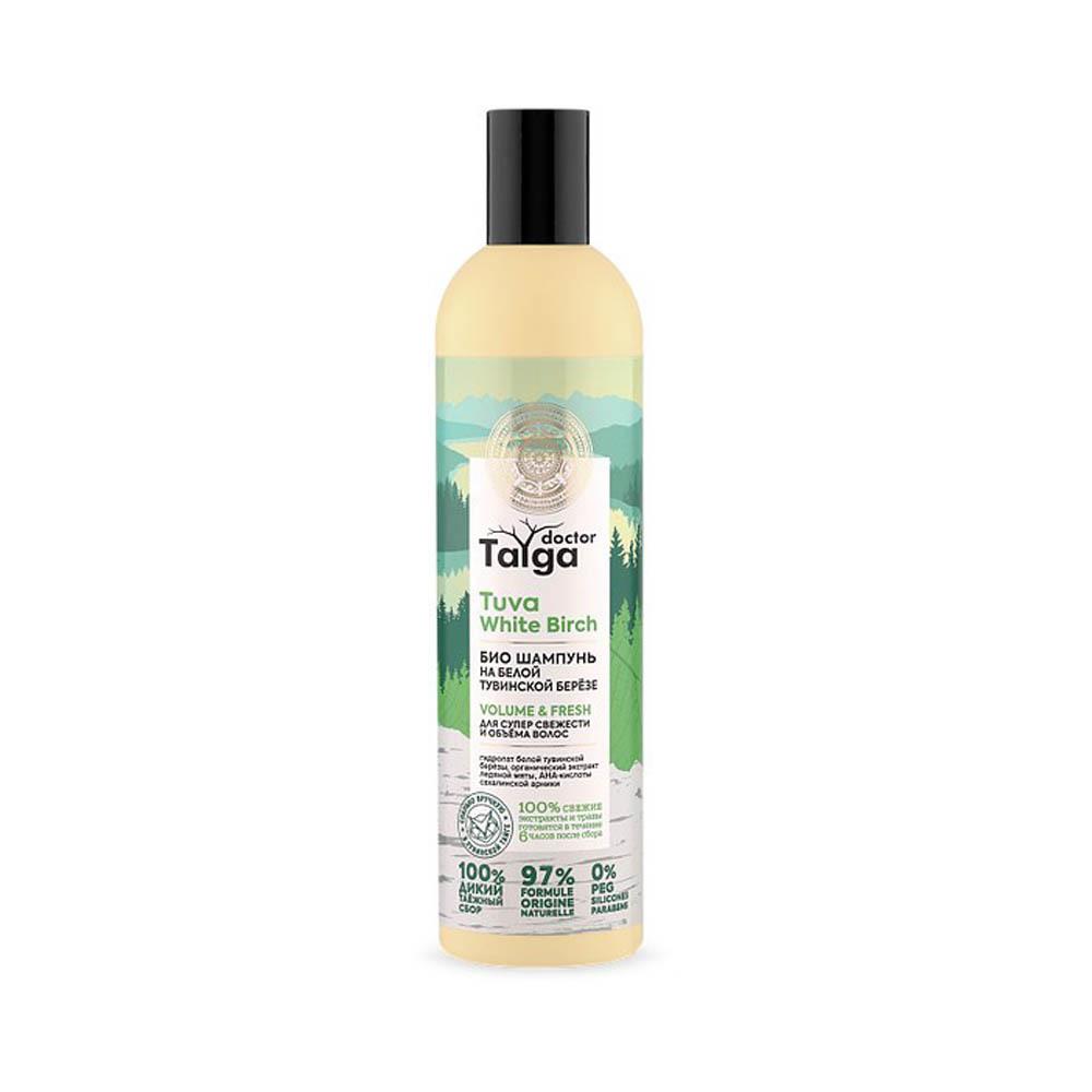 Шампунь-био Освежающий для супер свежести и объема волос Doctor Taiga