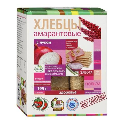 Хлебцы амарантовые с луком, 195 гр. (Ди энд Ди)