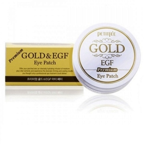Petitfee Premium Gold & EGF Eye Patch патчи под глаза с частичками золота и фактором EGF против морщин