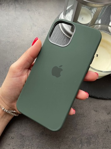 Чехол Iphone 12/12 pro Silicone case original quality /cyprus green/