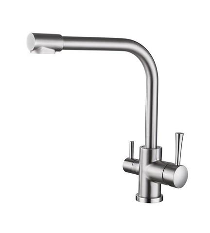 Смеситель KAISER Merkur 26044-5 серебро для кухни под фильтр