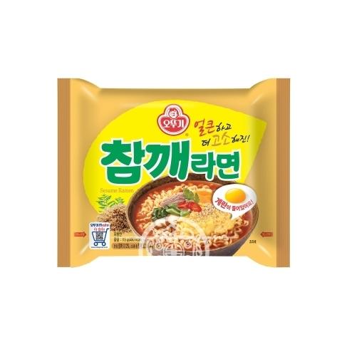 Лапша б/п Sesame Ramen со вкусом жареного кунжута 115гр Ottogi Корея