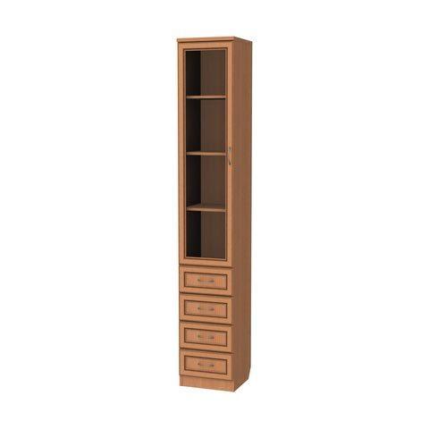 Шкаф для книг с ящиками узкий (Гарун-205)