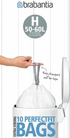 Пакет пластиковый 50/60л 10шт, артикул 246784, производитель - Brabantia