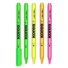 Набор текстовыделителей Kores (толщина линии 0.5-3.5 мм, 4 цвета)