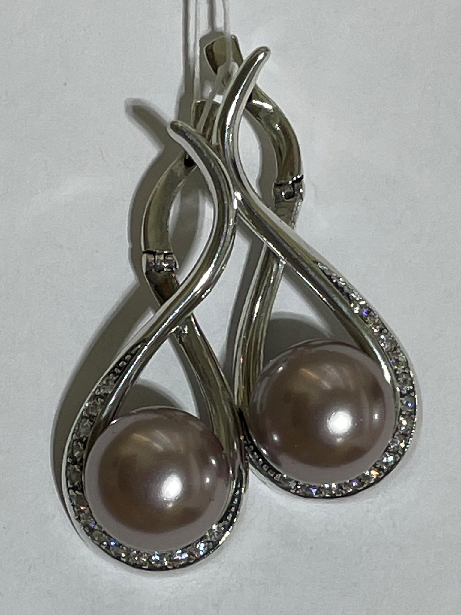 Фуэте (серьги из серебра)