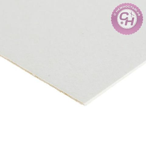 Картон пивной 1,5 мм, 577 г/м2, 20*20 см, белый, 1 лист.