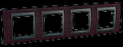 Рамка на 4 поста. Цвет Венге-графит. Schneider electric Unica Top. MGU66.008.2M3