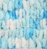 Пряжа Alize Puffy Color бирюзовый принт 5924