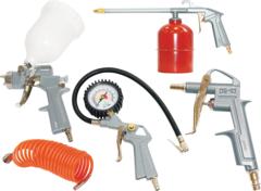 FUBAG Набор пневмоинструмента 5 предметов (краскораспылитель с верхним бачком)