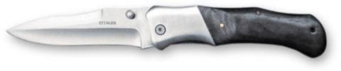 Нож Stinger, 100 мм, серебристо-черный