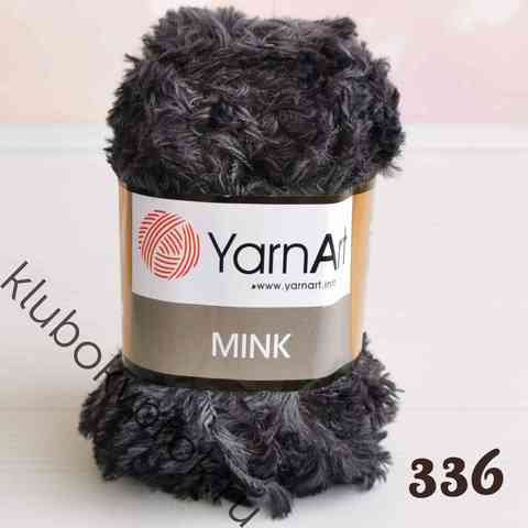 YARNART MINK 336, Темный серый меланж