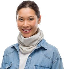 Тонкий шерстяной шарф-труба Buff Wool lightweight Solid Cloud - 2