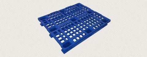 Поддон пластиковый перфорированный 1200x1000x160 мм с полозьями, усиленный металлическим профилем. Цвет: Синий