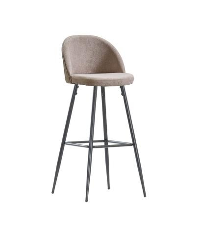 Интерьерный барный стул на четырех ножках Dodo Tissue (стул стилиста/бровиста), микровелюр (FB)
