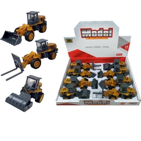 Набор тракторов в ассортименте Спецтехника № 2, 1кор*24бл*8шт