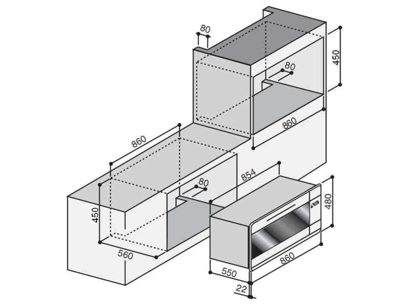 Электрический независимый духовой шкаф ILVE 948 NMP-X