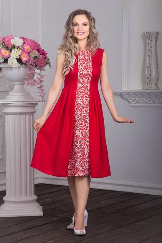 Платье в русском стиле Красна девица фото спереди