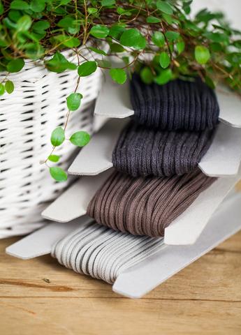 Хлопковый плетеный шнур 3 мм, 4 цвета