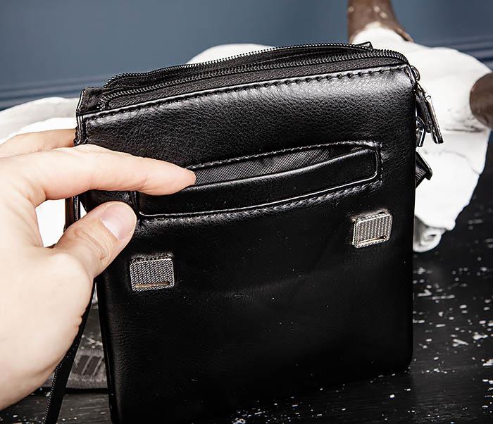 BAG560-1-5 Мужская сумка из кожи с ручкой и ремнем фото 08