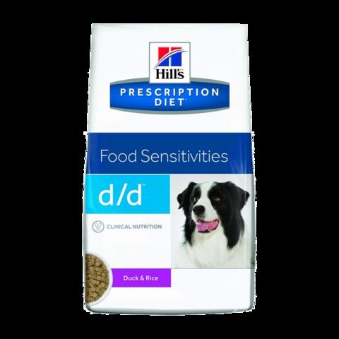 Hill's Prescription Diet D/D Сухой диетический корм для собак при пищевых аллергиях с уткой и рисом