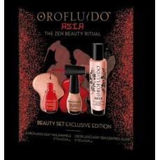 OROFLUIDO: Подарочный набор: эликсир для мягкости волос, лак для ногтей (Asia Zen Control Elixir+ Ofofluido Nail Enamels), 50мл+ 2*15мл