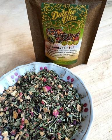 Чай Малина с мятой, 30 г