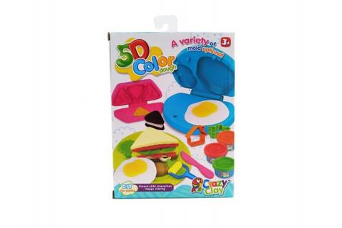 5D Color Dough Набор формочек + 4 цвета пластилина