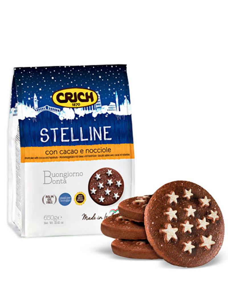 Печенье песочное Crich с какао и лесным орехом, 300 гр.