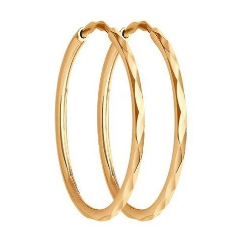 140007 - Золотые серьги-конго Ø 20 мм
