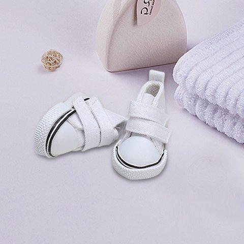 Взуття для ляльки Let's make Кеди на липучці білі