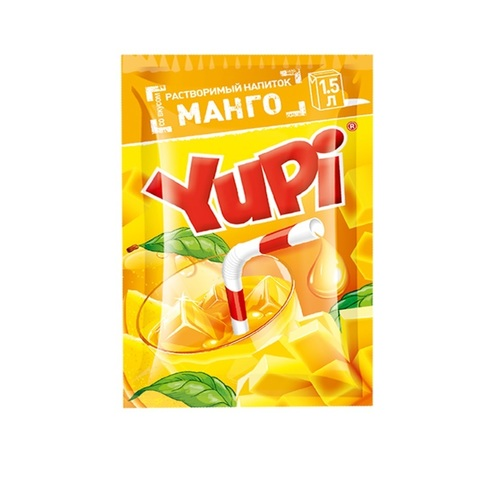 Растворимый напиток YUPI Манго1кор*6бл*24шт,15г