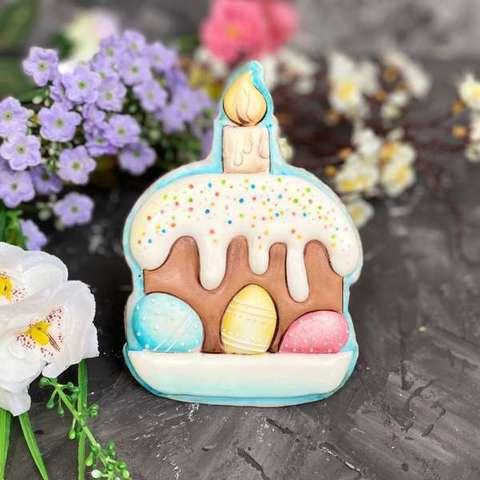 Кулич с яйцами и свечой №5