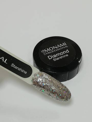 MONAMI Гель-лак Diamond Starshine, 5 гр (платиновый)