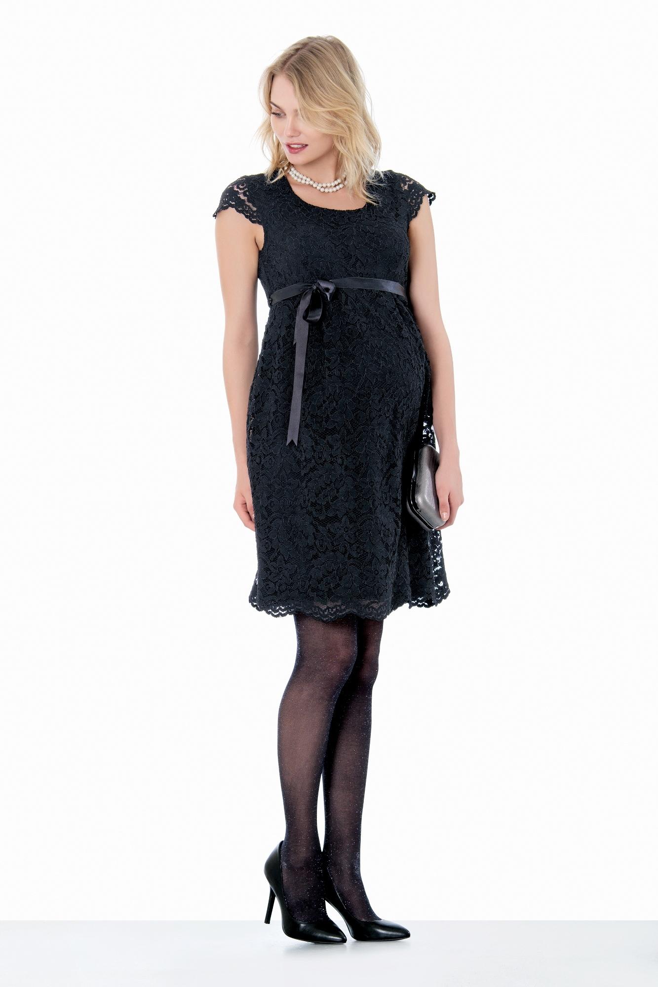 Фото платье для беременных EBRU, вечернее от магазина СкороМама, черный, размеры.