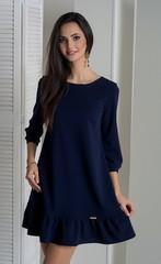 Ірма. Красива сукня вільного крою. Синій