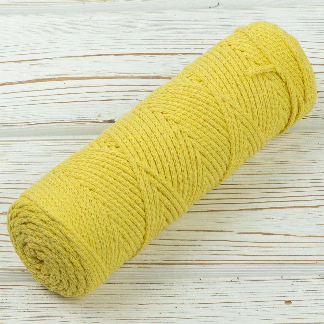 Хлопковый шнур Шнур 3мм Желтый IMG_6007.jpg
