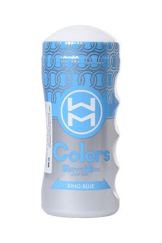 Мультирельефный мастурбатор MensMax Colors - Ring Blue