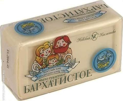 Мыло туалетное Невская косметика 140г Бархатистое