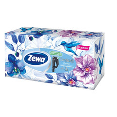 Салфетки косметические Zewa Deluxe 3-слойные (90 штук в упаковке)