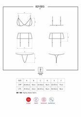 Сексуальный комплект из сетки и кружев (черный) L/XL