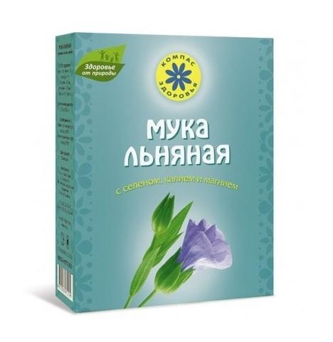 Мука Льняная с селеном, калием и магнием, 300 гр. (Компас Здоровья)
